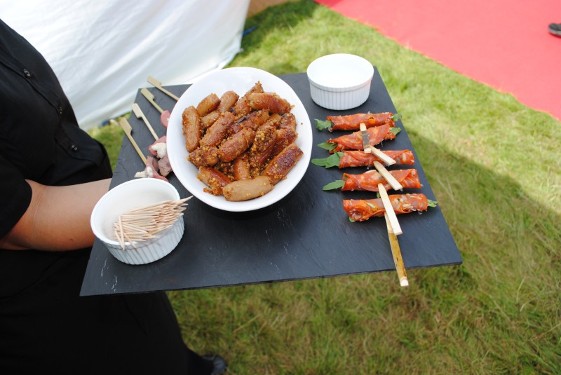 Delicious canapés being served